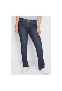 Calça Jeans Calvin Klein Jeans Flare Lisa Azul-Marinho