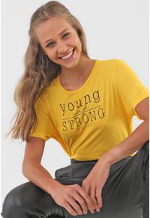 Camiseta Colcci Young And Strong Amarela