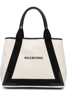 Balenciaga Medium Navy Cabas Bag - Neutro