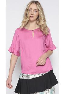 Blusa Com Vazado - Pink - Lanã§A Perfumelanã§A Perfume