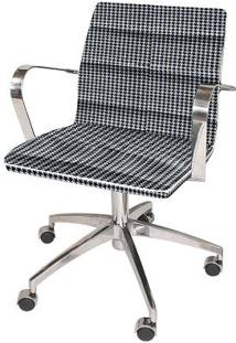 Cadeira De Escritório Estrela Jacquard Preto