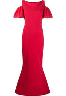 Le Petite Robe Di Chiara Boni Vestido De Festa Com Recorte Vazado - Vermelho