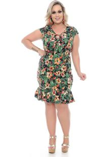 08137ad10e Vestido Flor Tamanho Grande feminino