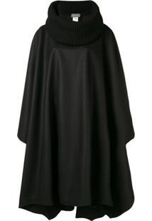 Alberta Ferretti Pelerine Oversized - Preto