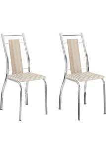 Kit 2 Cadeiras 1720 Anis Com Retrô Cromado - Carraro Móveis
