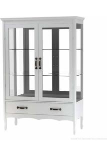 Cristaleira Com Vidro Luiza 2 Portas Branco - Urbe Móveis