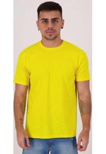 Camiseta Basica Masculina - Masculino-Amarelo