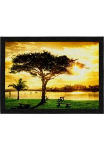 Capacho - Tapete Colours Creative Photo Decor - Árvore Amarelo