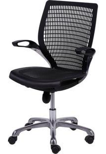 Cadeira Escritorio Hera Preta Base Aluminio - 26133 - Sun House