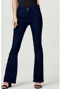 Calça Jeans Feminina Flare Azul-Indico