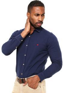 Camisa Malwee Slim Fit Azul