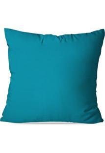 Almofada Avulsa Decorativa Lisa Azul