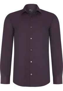 Camisa Masculina Tricoline - Roxo