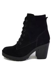 Bota Casual Tratorada Ec Shoes Preto