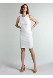Vestido Tubinho De Alfaiataria Off White