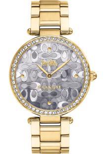 Relógio Coach Feminino Aço Dourado - 14503222 By Vivara - Tricae