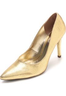 Scarpin Amber Metalizado Dourado