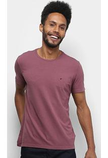 Camiseta Ellus Cotton Fine E Asa Classic Masculina - Masculino-Roxo