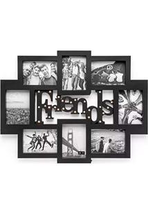 Painel De Fotos Led Amizade Preto