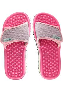Chinelo Anabela Massageador - Pink