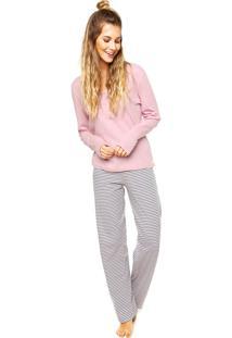 Pijama Liberta Listras Rosa