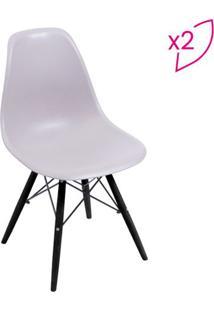 Jogo De Cadeiras Eames Dkr- Fendi & Preto- 2Pã§S-Or Design