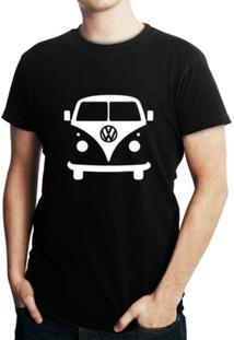 Camiseta Criativa Urbana Kombi Carro Clássico - Masculino