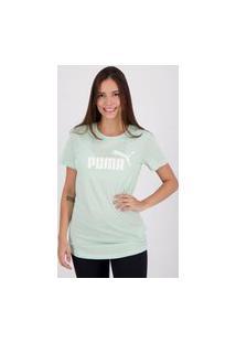 Camiseta Puma Essentials Feminina Verde