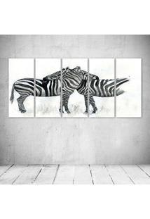 Quadro Decorativo - Zebras Art - Composto De 5 Quadros - Multicolorido - Dafiti