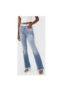 Calça Jeans Forum Bootcut Destroyed Azul