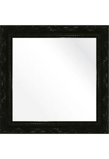Espelho Brilho Rococo Preto 26X26Cm