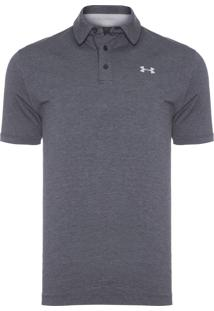 Polo Masculina Charged Cotton Scramble - Cinza