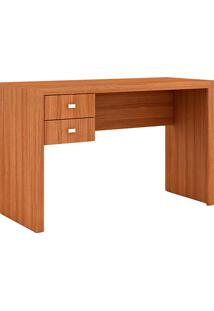 Mesa Para Escritório Me4123 2 Gavetas Amêndoa- Tecno Mobili