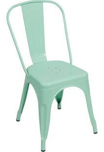 Cadeira De Jantar Retrã´- Verde ÁGua- 86X36X35,5Cm