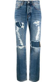 Givenchy Calça Jeans Com Efeito Desgastada - Azul