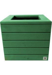Vaso Madeira Cachepot Alce Couch Verde 38X40X40 - Verde - Dafiti