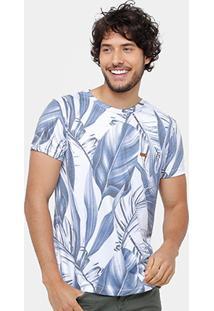 Camiseta Rock & Soda Full Print Folhas Masculina - Masculino