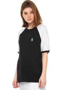 Camiseta Volcom Volstone Preta/Branca