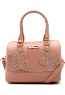 Bolsa Colcci Flores Rosa