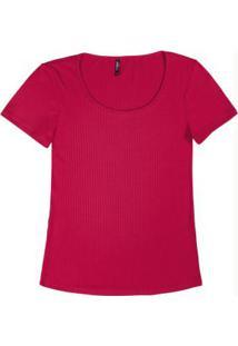 Blusa Básica Malha Canelada Vermelho