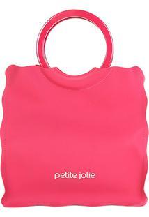 Bolsa Petite Jolie Shopper Curly Feminina - Feminino-Rosa