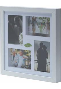 Painel De Fotos Branco Collection Para 4 Fotos 10X15 Woodart