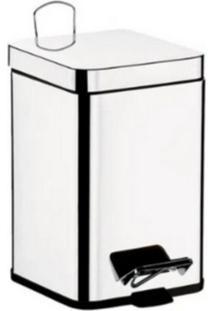 Lixeira Quadrada 12 Litros Com Pedal Inox - Brinox