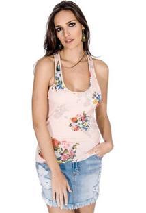 Regata Floral Nadador Colcci - Feminino-Rosa