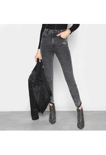 Calça Jeans Cigarrete Colcci Karen Estonada Puídos Feminina - Feminino
