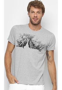 Camiseta Forum Paisagem Escada Masculina - Masculino-Mescla