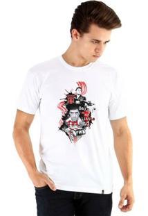 Camiseta Ouroboros Manga Curta Scar Face - Masculino-Branco