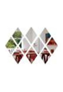 Espelho Decorativo Diamante Em Acrílico Losango 10 Peças