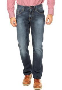 Calça Jeans Reta Tommy Hilfiger Azul