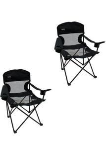 Kit 2 Cadeiras Dobrável De Fácil Montagem Fesno Nautika - Unissex
